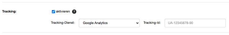 Google Analytics Tracking aktiveren