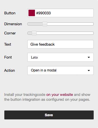 Settings Feedback Button