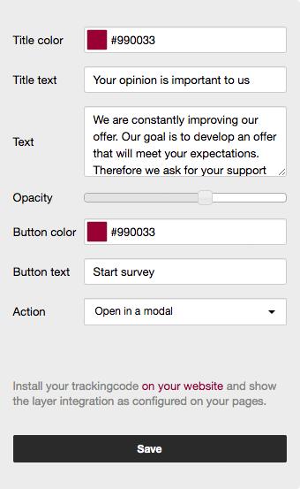 Settings Survey Focus Layer