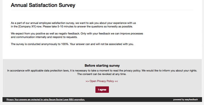 advise privacy policy survey