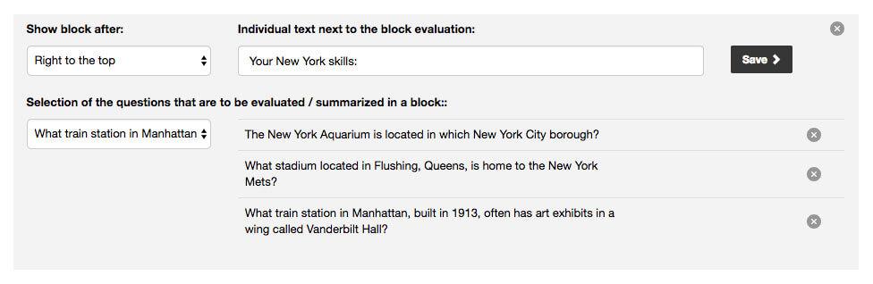 Quiz Block Evaluation