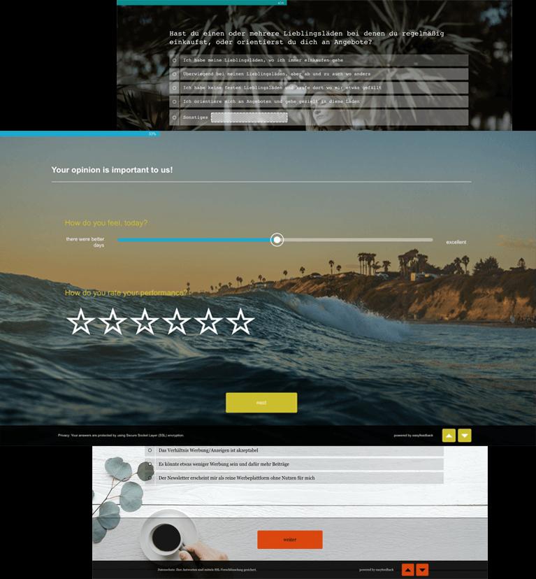 Umfrage-Design und Logo anpassen