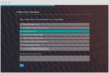 Umfrage-Vorlage Kündigungsgrund der Kunden erfragen