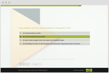 Umfrage-Vorlage: Weiterbildungsbedarf ermitteln