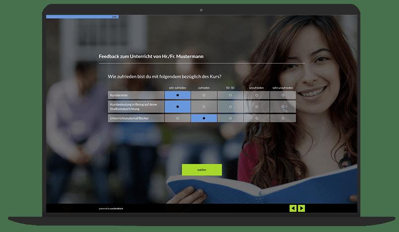 Bewertung von Lehrkräften Umfrage-Vorlage