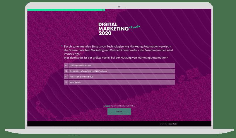 Digitale Marketingtrends Quiz-Vorlage
