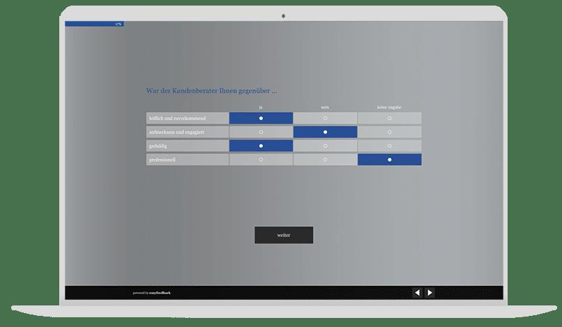 Feedback Kundenservice Autohaus Umfrage-Vorlage