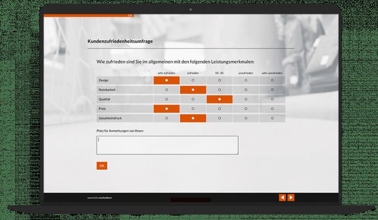 Kundenzufriedenheit ermitteln Umfrage-Vorlage