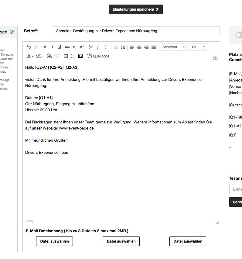 E-Mail Text