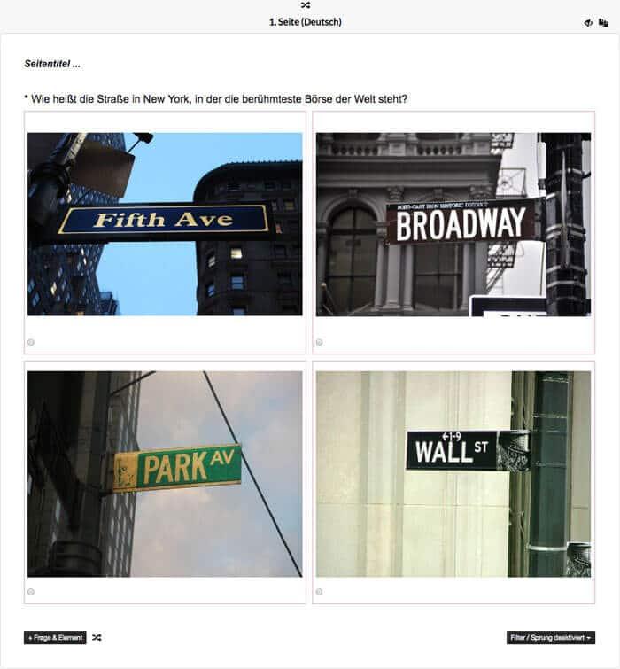 Quiz-Fragebogeneditor: Per Drag & Drop Fragen zusammenstellen