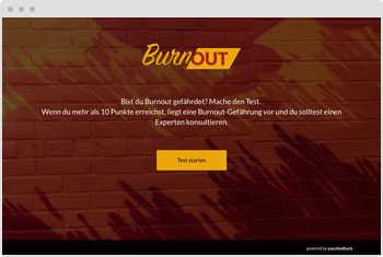 Quiz-Vorlage Burnout-Test