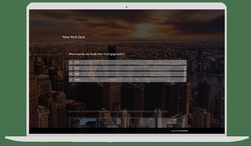 Quiz-Vorlage Städtequiz