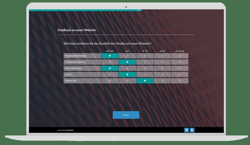 Website Usability Umfrage-Vorlage