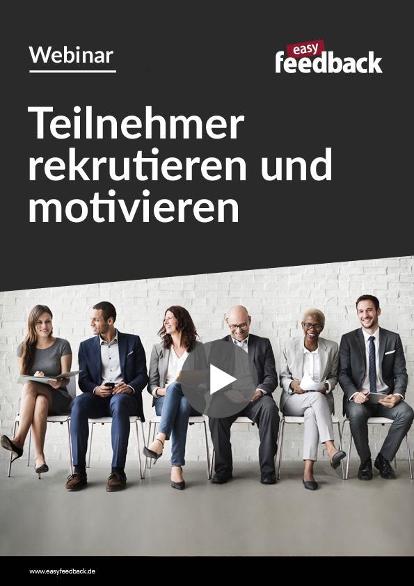 Webinar Geeignete Umfrageteilnehmer rekrutieren und motivieren