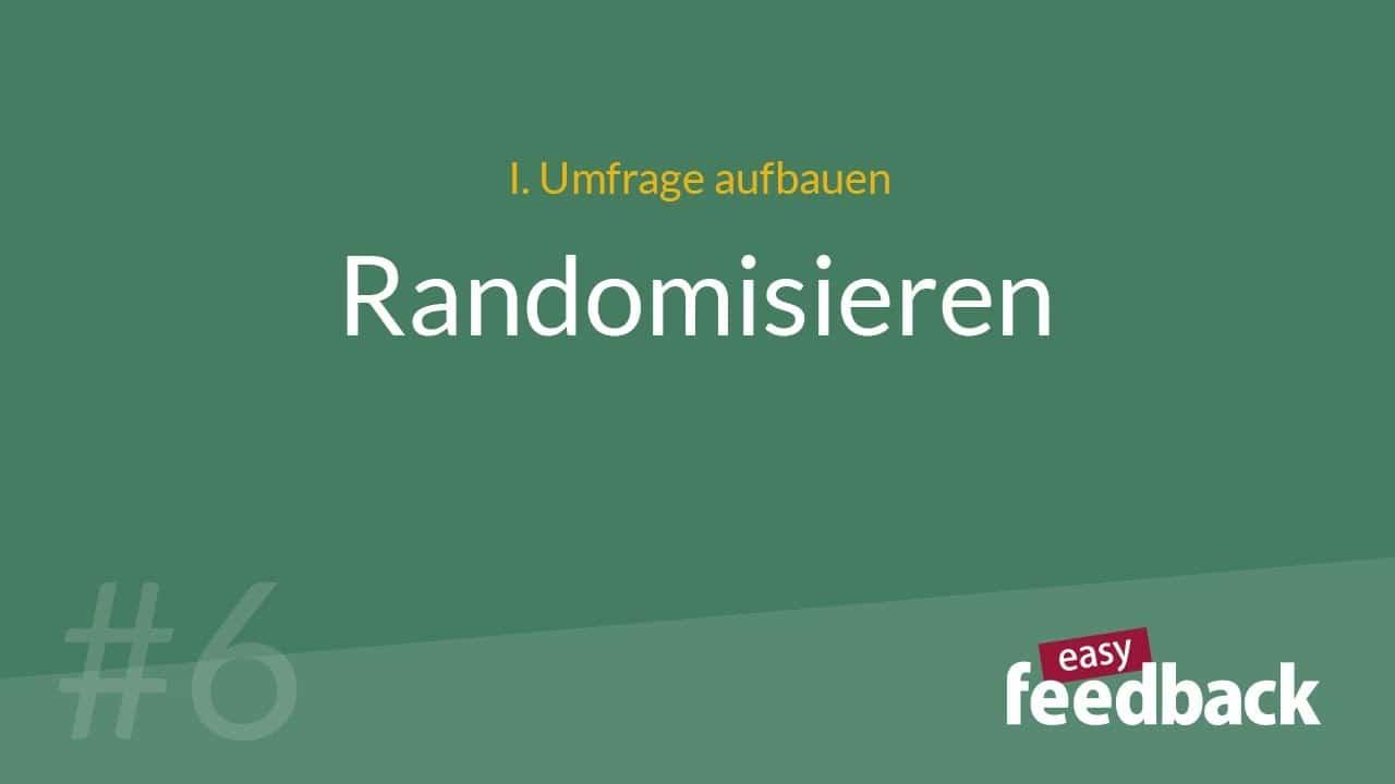 Randomisieren