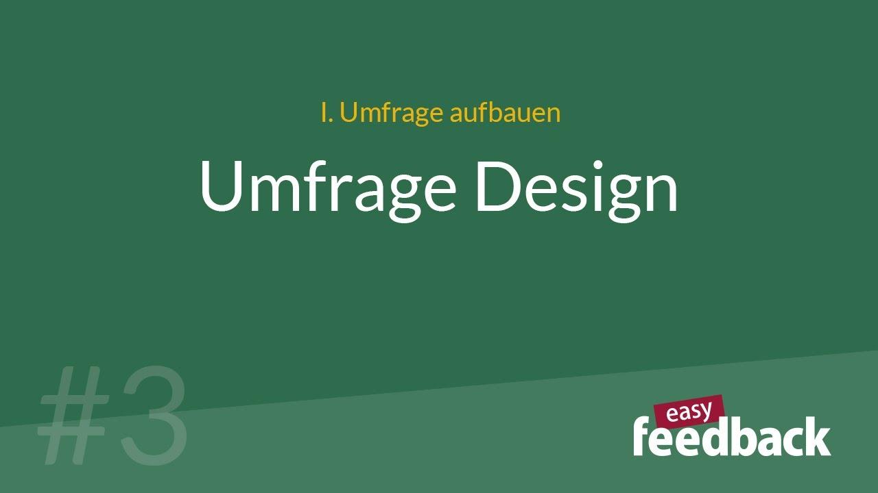 Umfrage Design
