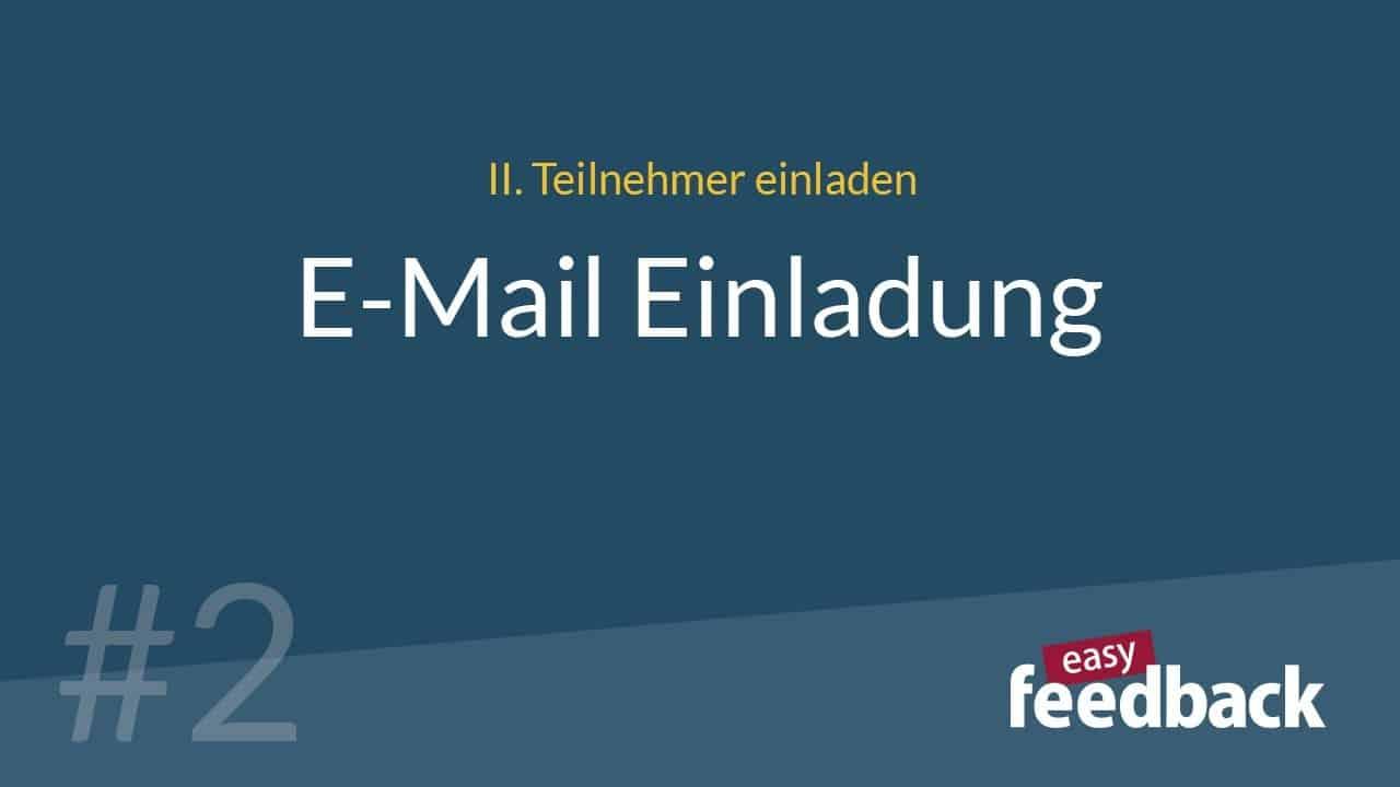 Video zur E-Mail-Einladung in easyfeedback