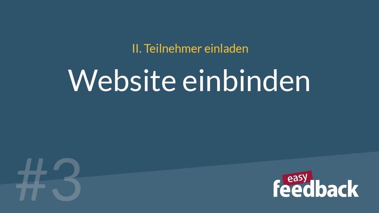 Website einbinden