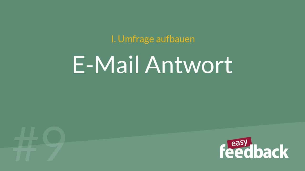 E-Mail Antwort