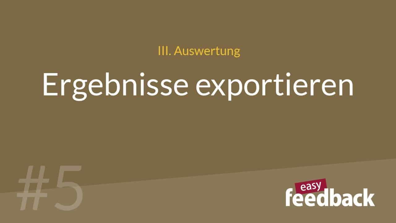 Ergebnisse Exportieren