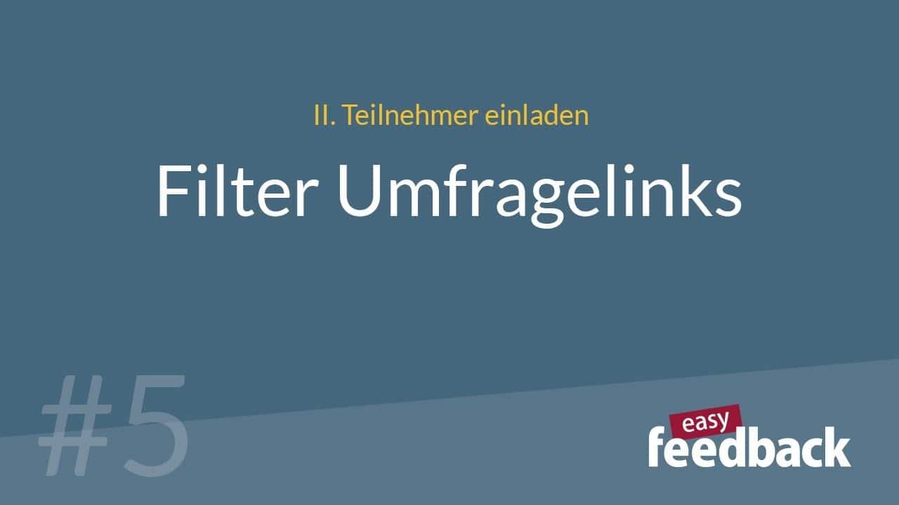 Filter Umfragelinks