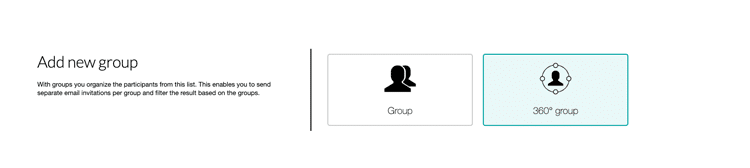 Add a new group of participants in your 360 degree survey