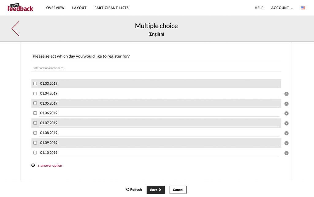 multiple choice question survey tool