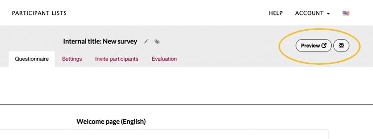 Preview questionnaire