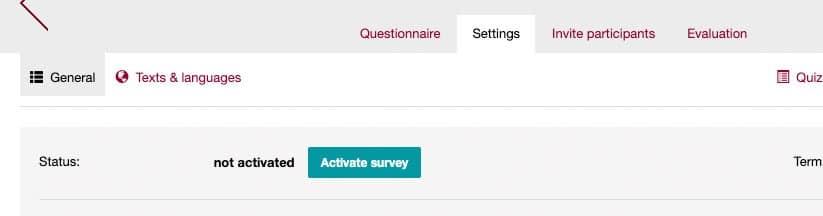 activate your survey in easyfeedback