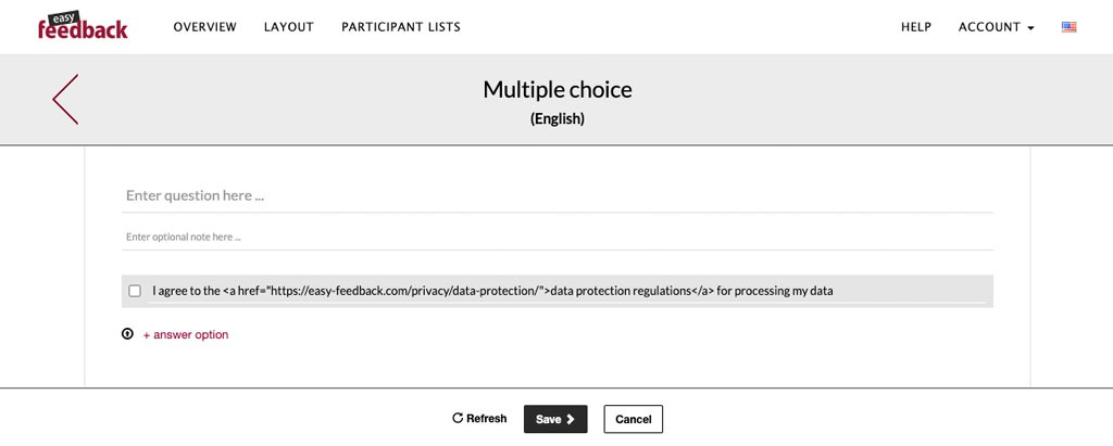 multiple choice question with data protection regulations