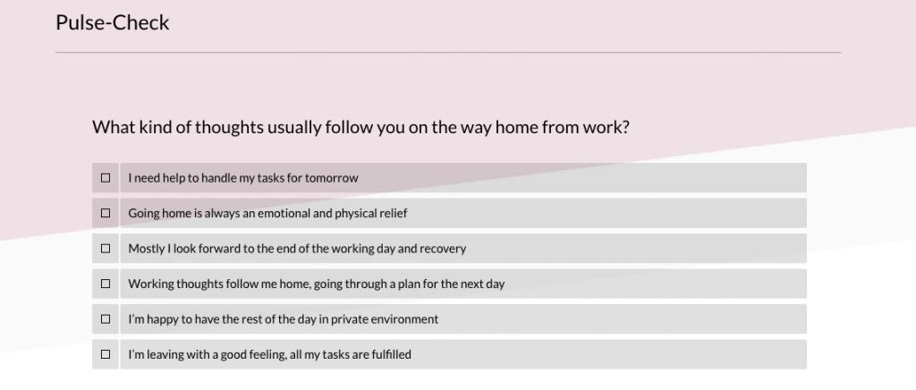 puls check survey question 2