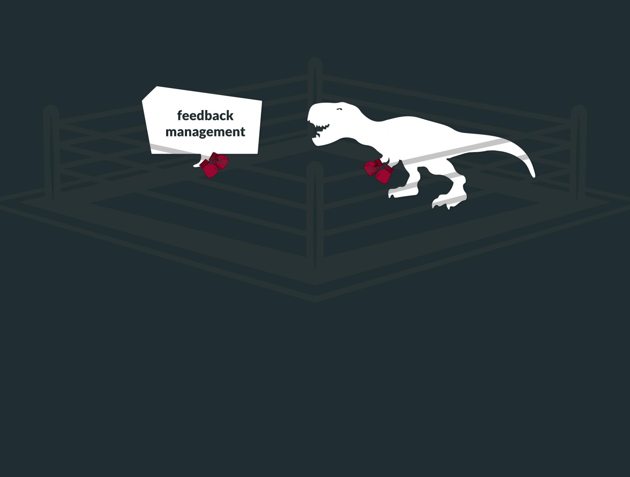 Dinosaurier im Feedback Arena