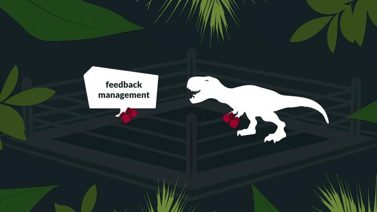 Titelbild Dinosaurier im Feedback Management