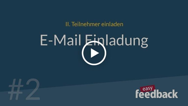 Video-Anleitung Teilnehmer per E-Mail über easyfeedback einladen