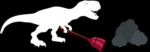 Dinosaurier putzen ordentlich